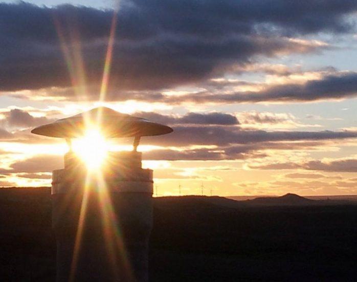 El mirador de Tierra de Campos junto a la Bodega Los Arcos